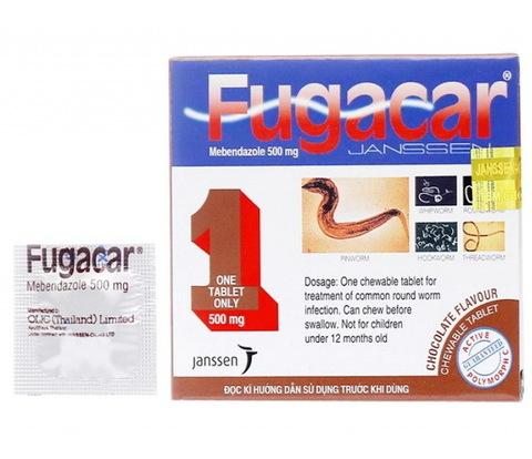 Жевательная таблетка от всех видов глистов Fugacar.