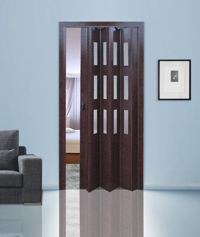 Двери гармошка с витражами