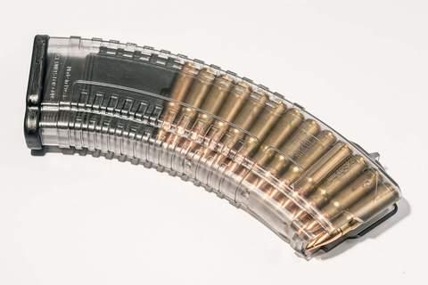 Магазин прозрачный для АК 7.62, 30 патронов, PufGun