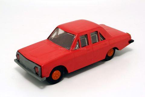 GAZ-24 Volga plastic red. Ak-Tilek (Bishkek) 1:32