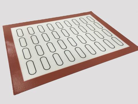 Коврик силиконовый армированный, с разметкой для мини-эклеров, 30х40 см d=2*5 см