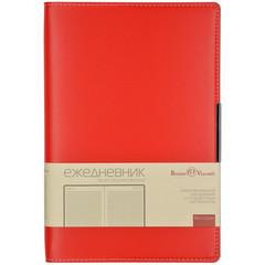Ежедневник недатированный Bruno Visconti Metropol искусственная кожа А5 136 листов красный (143х216 мм)