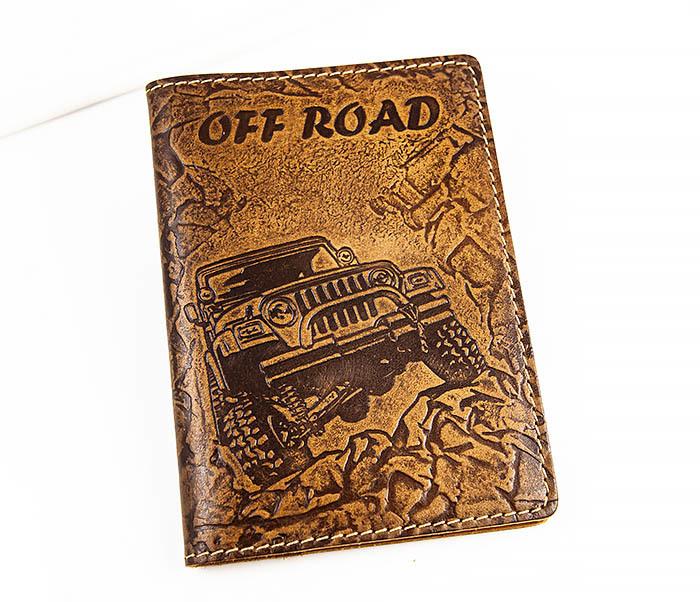 BY04-04-08 Кожаная подарочная обложка документница «Off Road»