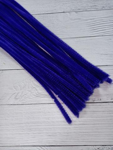 Проволока синельная, цвет синий, размер 30см, 30 шт
