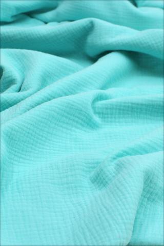 Ткань муслиновая, ярко-бирюзовый