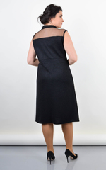 Ребека. Сукня на свято великі розміри. Чорний.