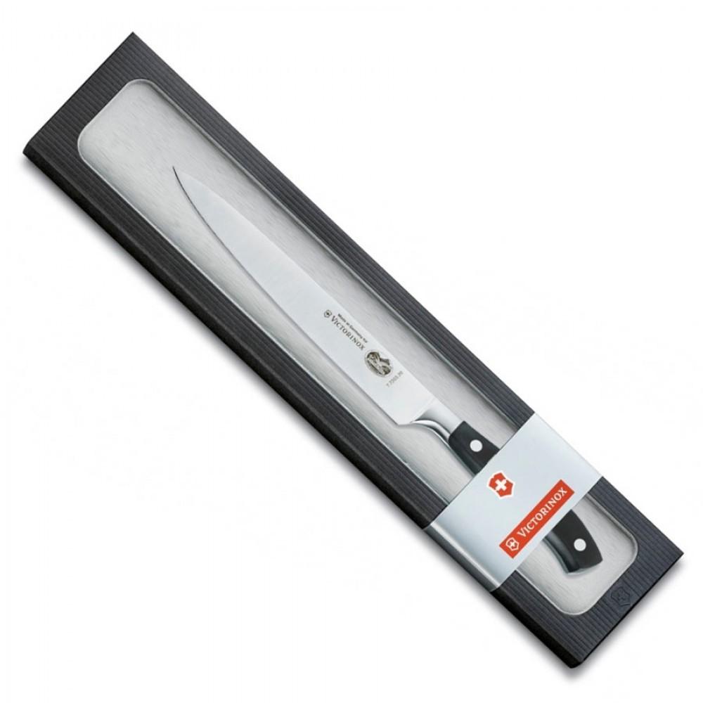 Профессиональный кухонный разделочный нож Victorinox из кованой стали, длина лезвия 20 см. (7.7203.20G)