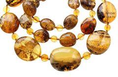 бусы из натурального янтаря, фото