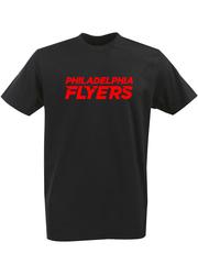 Футболка с однотонным принтом НХЛ Филадельфия Флайерз (NHL Philadelphia Flyers) черная 004