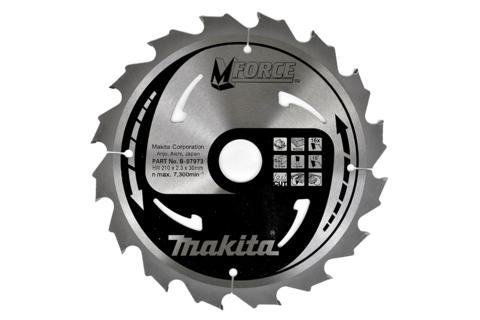 Пильный диск по дереву Makita M-FORCE 190х30/20/15,88х2 мм/24