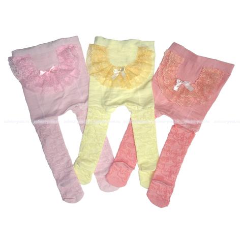 Колготки под памперс ажурные с рюшей (62-86) ОФ.ЛВ.К7А
