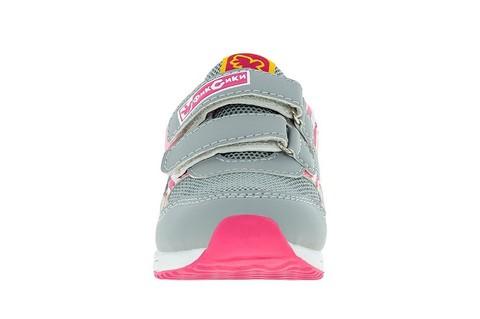 Кроссовки для девочек на липучках Фиксики, цвет серый. Изображение 2 из 5.
