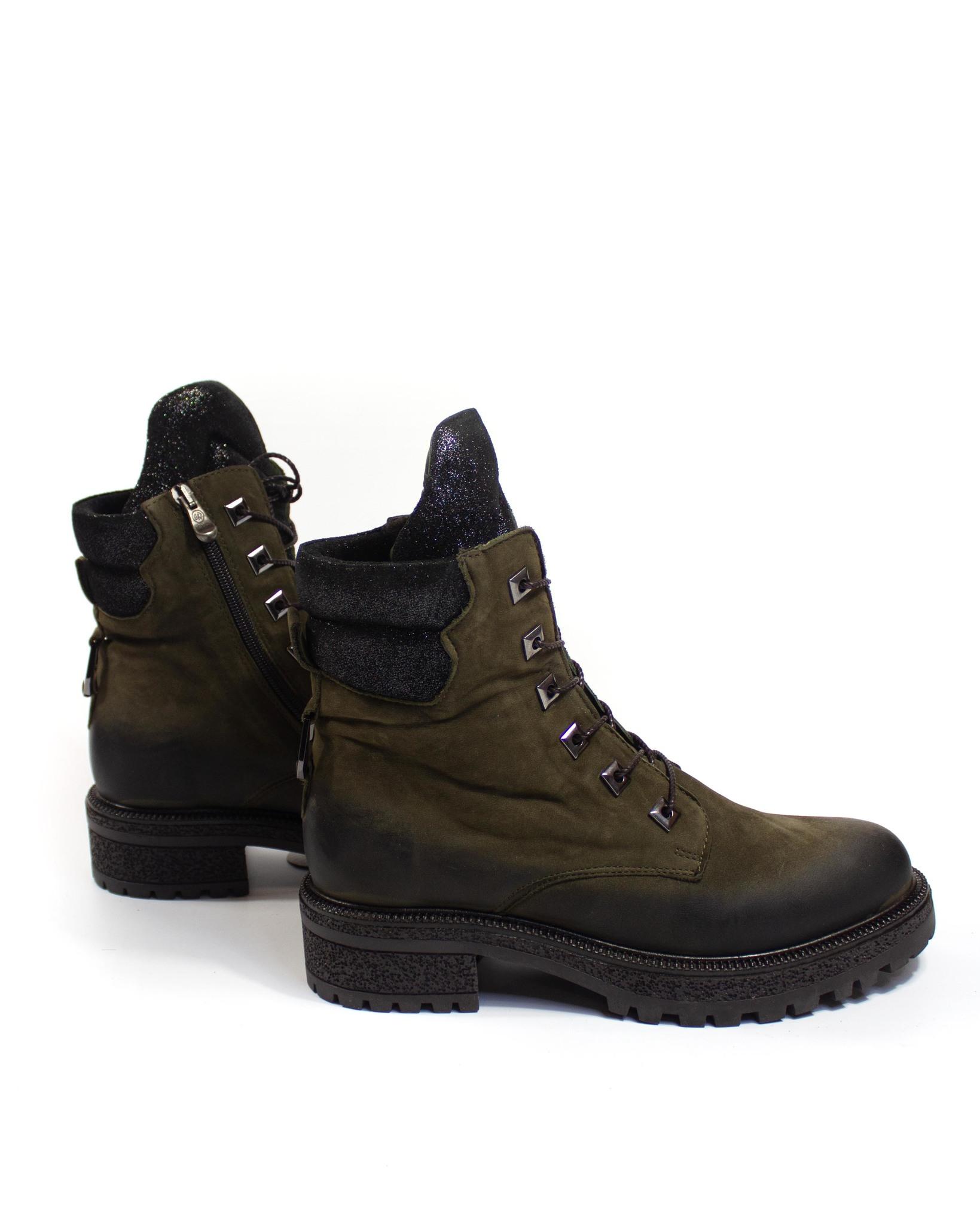 зеленые ботинки Donna Ricco