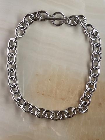 Колье Леониа, серебряный цвет