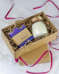 Набор ароматическая свеча  «Груша-Ваниль»  и мыло «Виноград», Россия