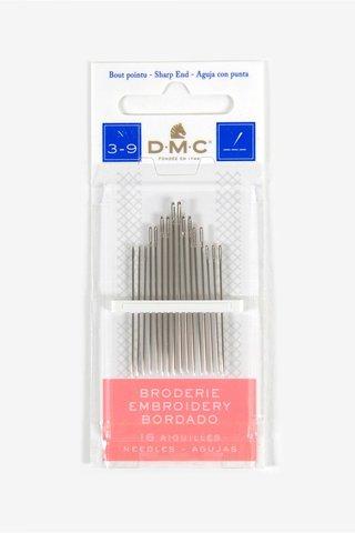 Иглы для вышивания гладью №3-9, 16 шт (DMC)