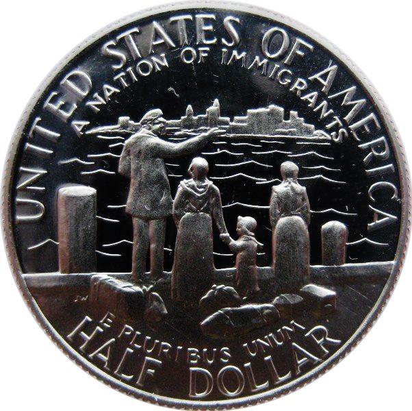 1/2 доллара США 1986 год S Нация иммигрантов