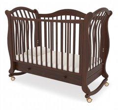 Кровать детская Габриэлла люкс на колесиках с ящиком орех