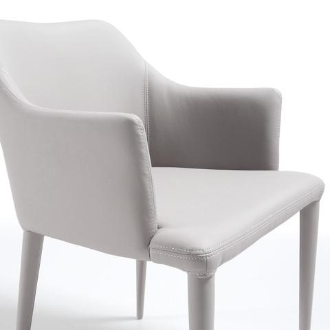 Кресло Danai серое кожаное