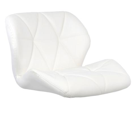 Сиденье для барного стула Диамонд/Diamond, экокожа, белое (сидение)