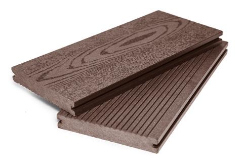 Террасная доска  полнотелая 140 мм Шоколад