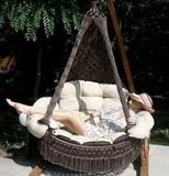 Подвесное кресло Cartagena с деревянным каркасом Корса