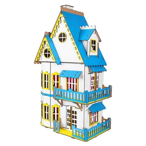 Кукольный домик белый