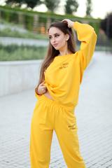 Спортивный костюм желтого цвета женский интернет магазин