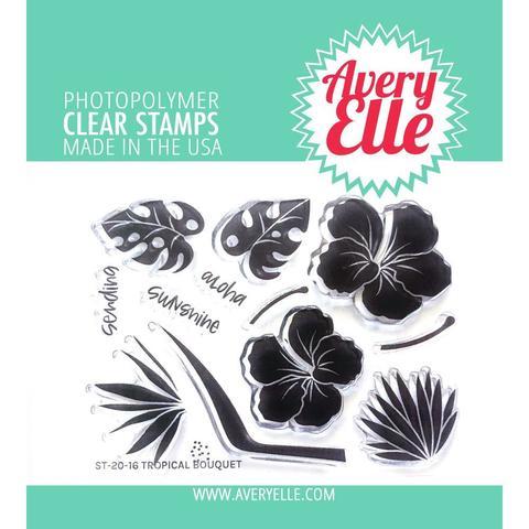 Штампы  Avery Elle Clear Stamp Set - 8х11 см- Tropical Bouquet