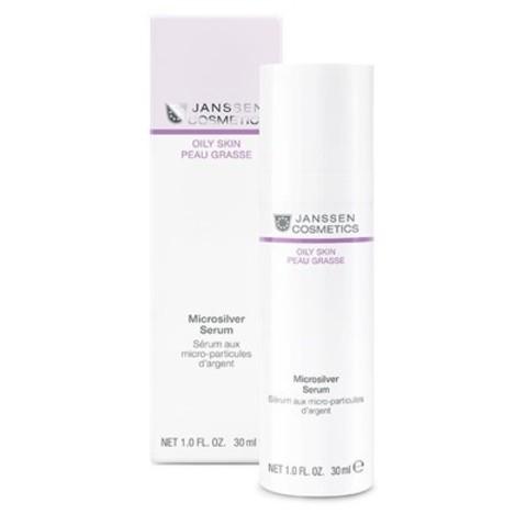 JANSSEN COSMETICS Сыворотка с антибактериальным действием для жирной, воспаленной кожи  | Microsilver Serum