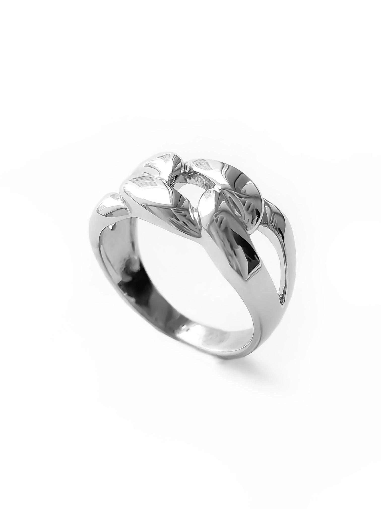 Серебряное кольцо с массивной цепью