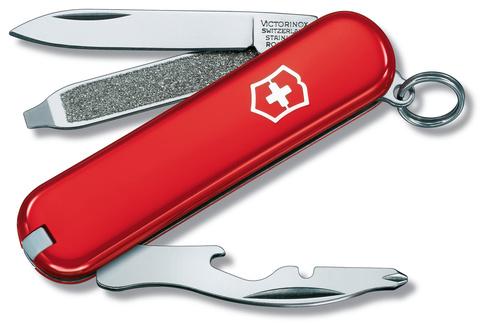 Нож-брелок Victorinox Classic Rally, 58 мм, 9 функций, красный карт.коробка