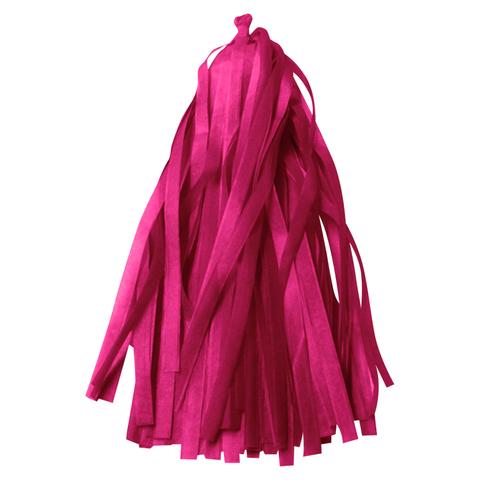 Гирлянда Тассел, розовая фуксия