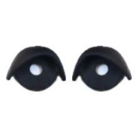 Веки для глаз 15 мм. Черный.