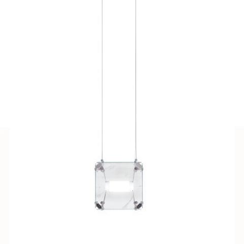 Подвесной светильник копия Hyperqube by Felix Monza (1 плафон, прозрачный)