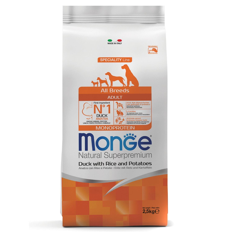 Сухой корм Корм для собак Monge Dog с уткой, рисом и картофелем 70011129_1.jpeg