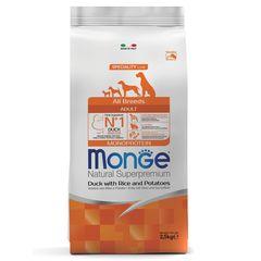 Корм для собак Monge Dog с уткой, рисом и картофелем