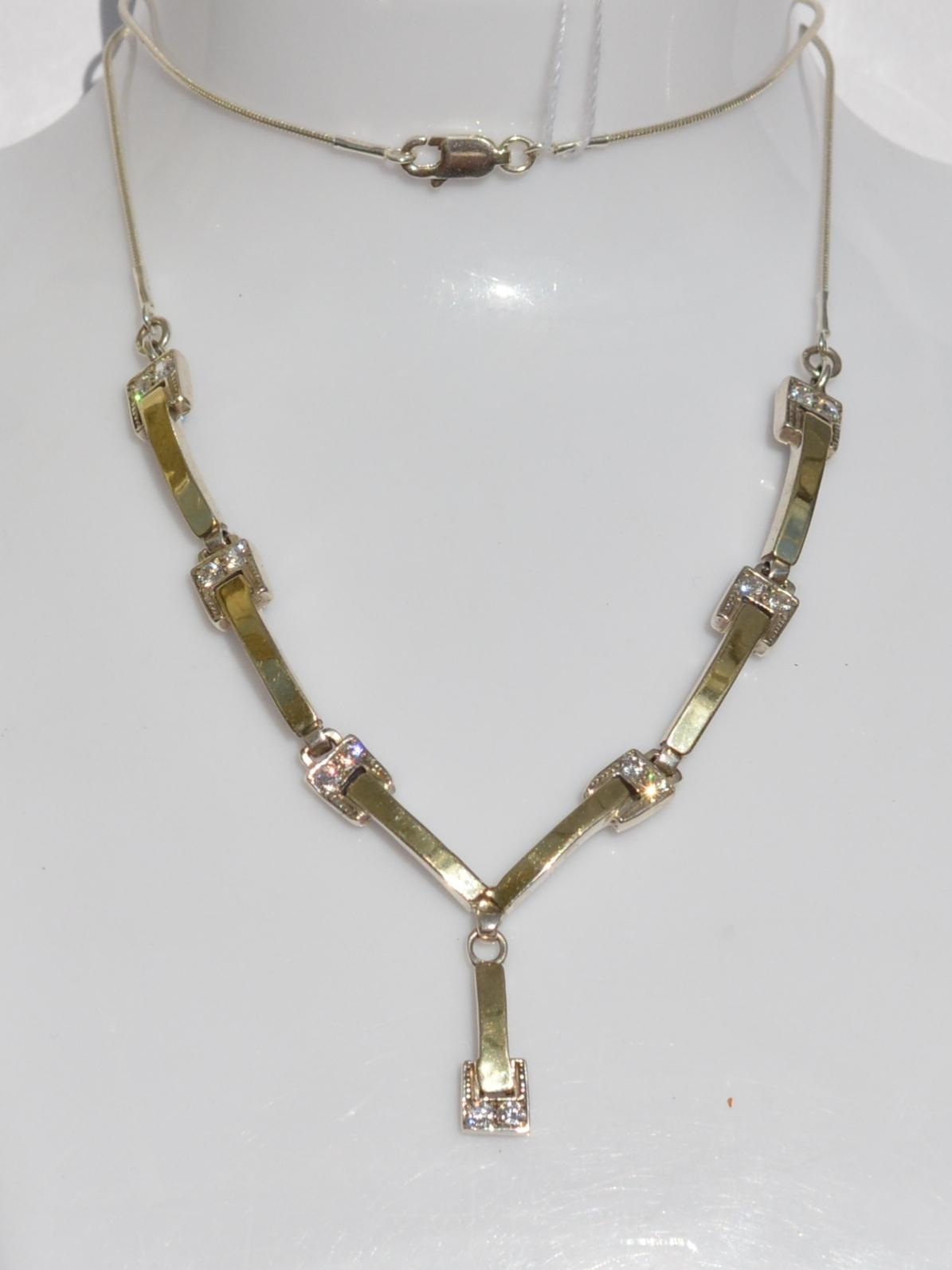Циркон 1627 (колье из серебра/золота)