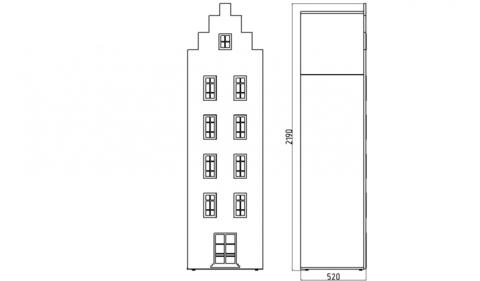 Шкаф-домик XL Амстердам - 1 (Н)