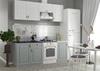 Модульный кухонный гарнитур «Гранд» 2100мм (Пепел/Белый), ЛДСП/МДФ, ДСВ Мебель