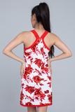 Платье с красными розами Twin-Set