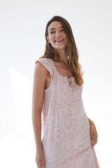 Коротка нічна сорочка з органічної бавовни з принтом