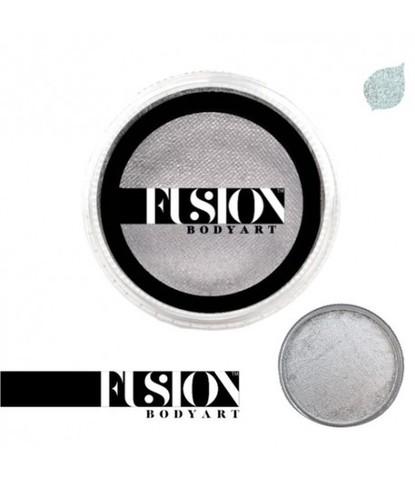 Аквагрим Fusion перламутровый серебряный 32 гр
