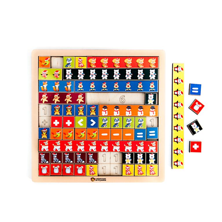 Палочки для счёта новогодние «Математическая лесенка»