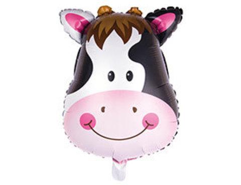 Фольгированный шар Корова голова