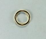 Кольцо разъемное, 10x1 мм, позолоченное, 5 шт.