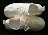 Светящиеся кроссовки с USB зарядкой на шнурках, цвет белый, светится верх. Изображение 17 из 23.