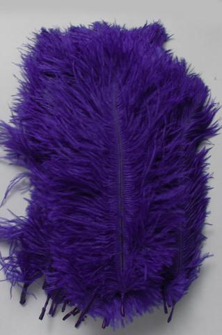 Перья страуса  декоративные  15-20 см. 50 шт, фиолетовый