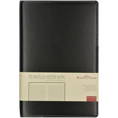 Ежедневник недатированный Bruno Visconti Metropol искусственная кожа А5 136 листов черный (143х216 мм)