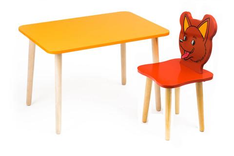 Комплект детской мебели Джери с оранжевым столиком